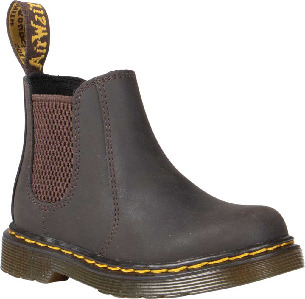 Infant Dr. Martens 2976 Pull On Chelsea Boot Toddler, Gaucho Wildhorse Lamper Distressed Oily Leather, large, image 1
