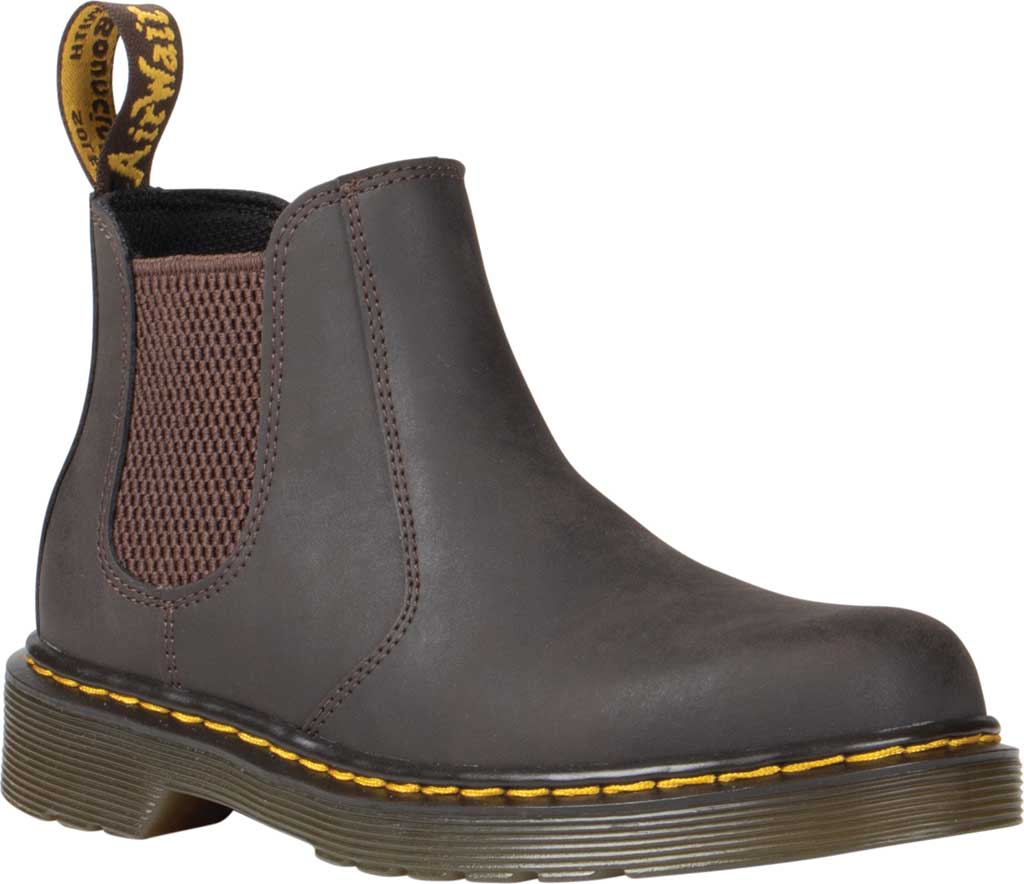 Children's Dr. Martens 2976 Pull On Chelsea Boot Junior, Gaucho Wildhorse Lamper Distressed Oily Leather, large, image 1