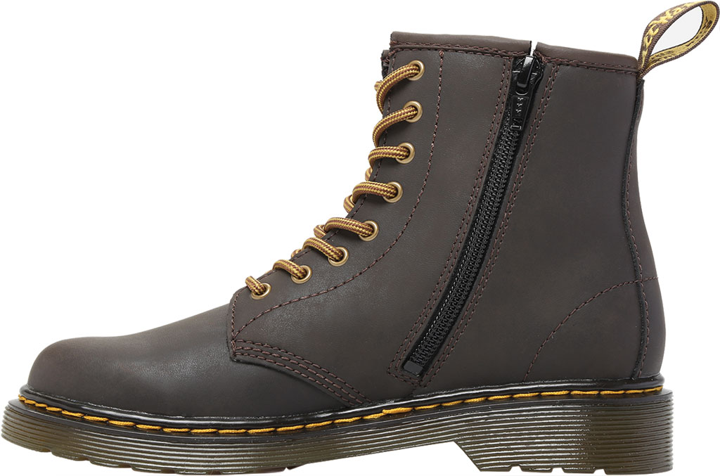 Children's Dr. Martens 1460 Oiled Leather 8-Eye Ankle Boot Junior, Gaucho Wildhorse Lamper Distressed Oily Leather, large, image 3
