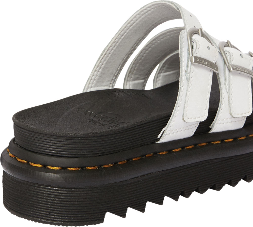 Women's Dr. Martens Blaire Platform Slide, White Hydro PU Coated Leather, large, image 3