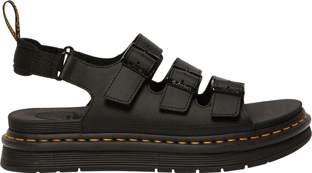Men's Dr. Martens Soloman Walking Sandal, Black Hydro PU Coated Leather, large, image 2