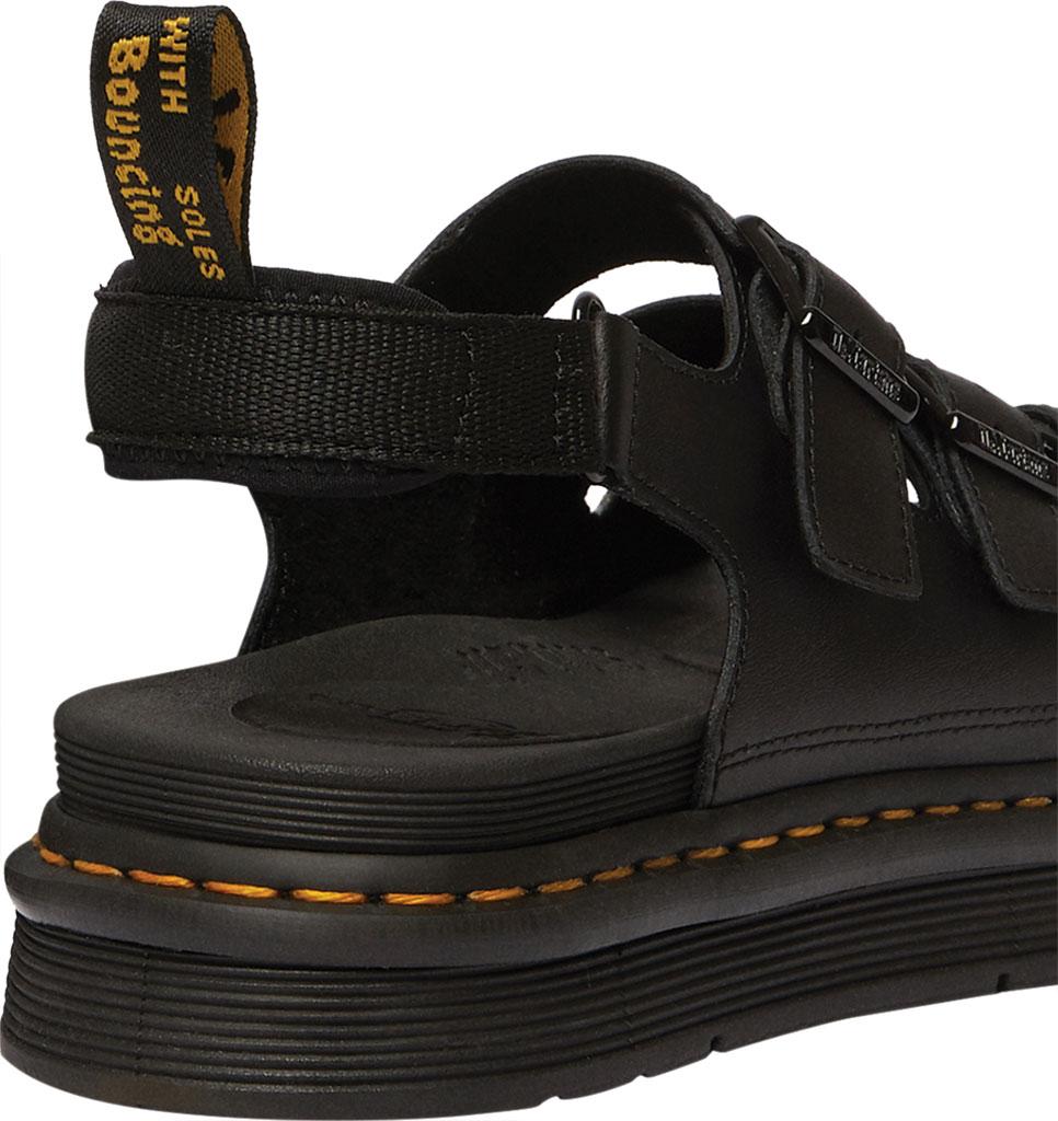 Men's Dr. Martens Soloman Walking Sandal, Black Hydro PU Coated Leather, large, image 3