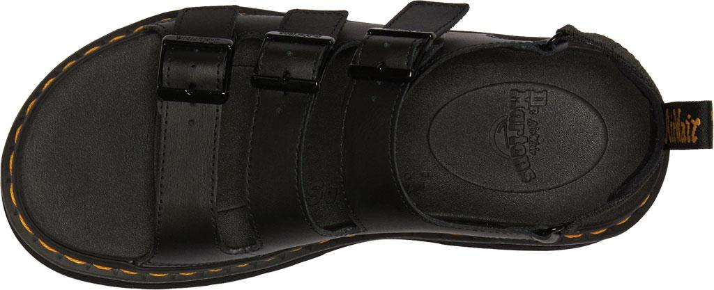 Men's Dr. Martens Soloman Walking Sandal, Black Hydro PU Coated Leather, large, image 4