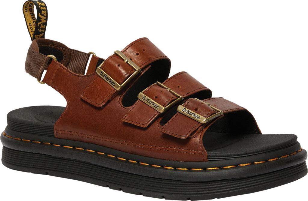 Men's Dr. Martens Soloman Walking Sandal, Tan Luxor Leather, large, image 1