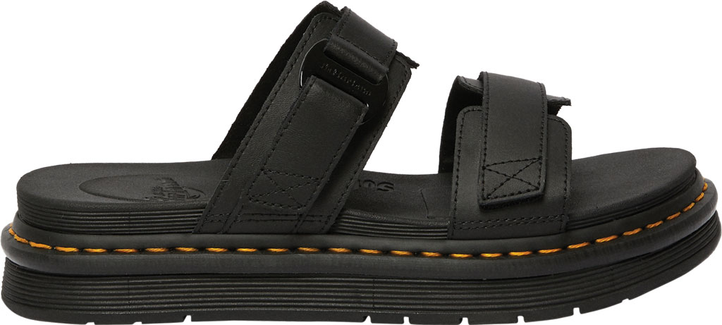 Men's Dr. Martens Chilton Two Strap Slide, Black Hydro PU Coated Leather, large, image 2
