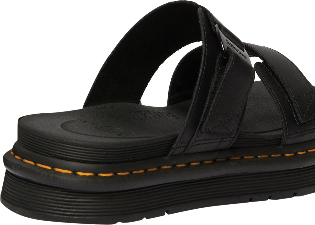 Men's Dr. Martens Chilton Two Strap Slide, Black Hydro PU Coated Leather, large, image 3