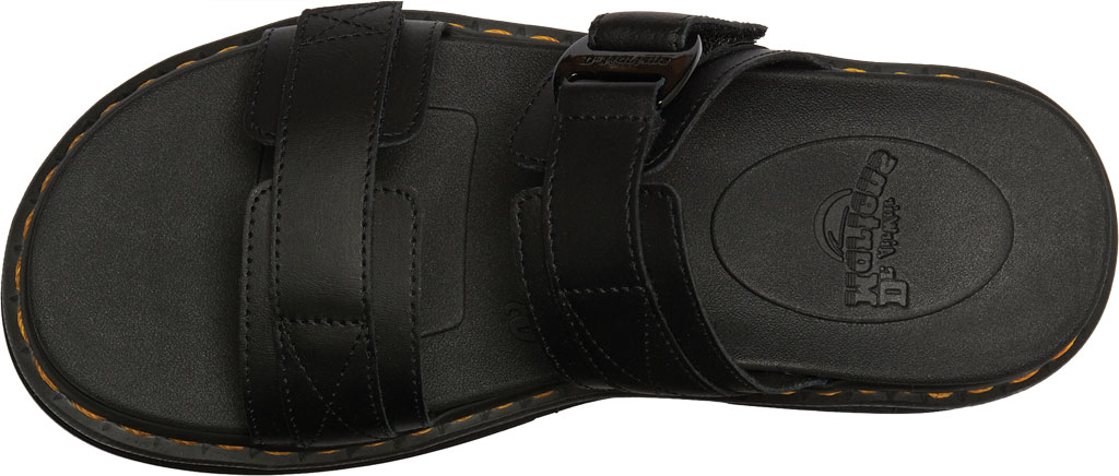 Men's Dr. Martens Chilton Two Strap Slide, Black Hydro PU Coated Leather, large, image 4
