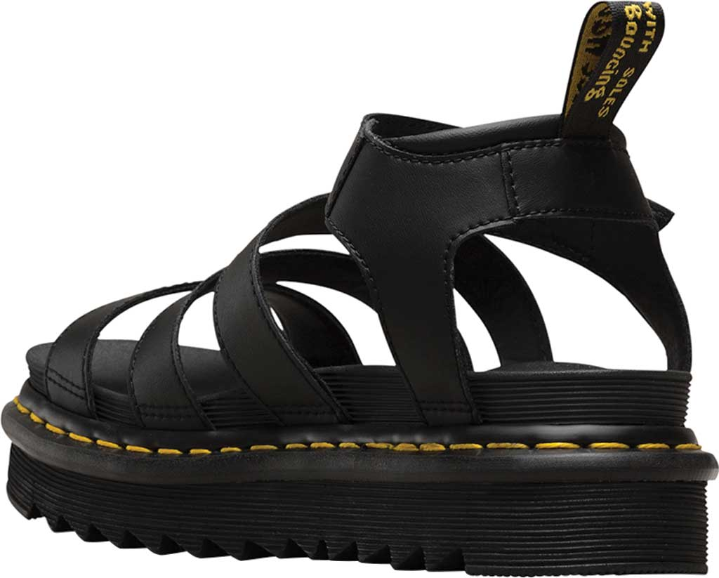 Women's Dr. Martens Blaire Platform Strappy Sandal, Black Hydro PU Coated Leather, large, image 3