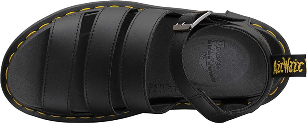 Women's Dr. Martens Blaire Platform Strappy Sandal, Black Hydro PU Coated Leather, large, image 4