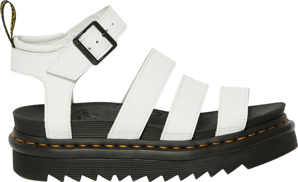 Women's Dr. Martens Blaire Platform Strappy Sandal, White Hydro PU Coated Leather, large, image 2