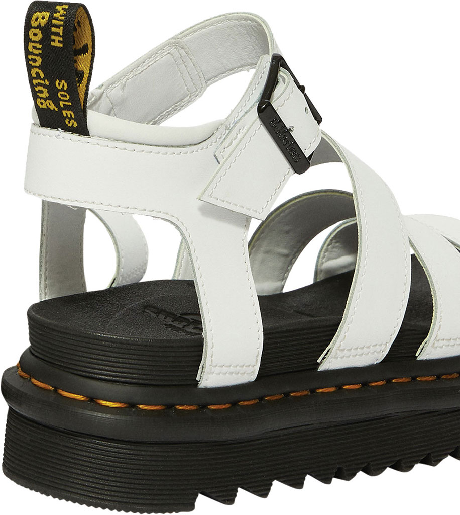 Women's Dr. Martens Blaire Platform Strappy Sandal, White Hydro PU Coated Leather, large, image 3
