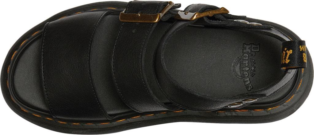 Women's Dr. Martens Gryphon Quad Quarter Strap Sandal, Black Pisa Waxy Nappa Leather, large, image 4