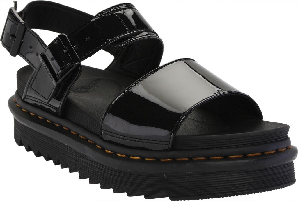 Women's Dr. Martens Voss Platform Slingback Sandal, Black Patent Lamper Leather, large, image 1