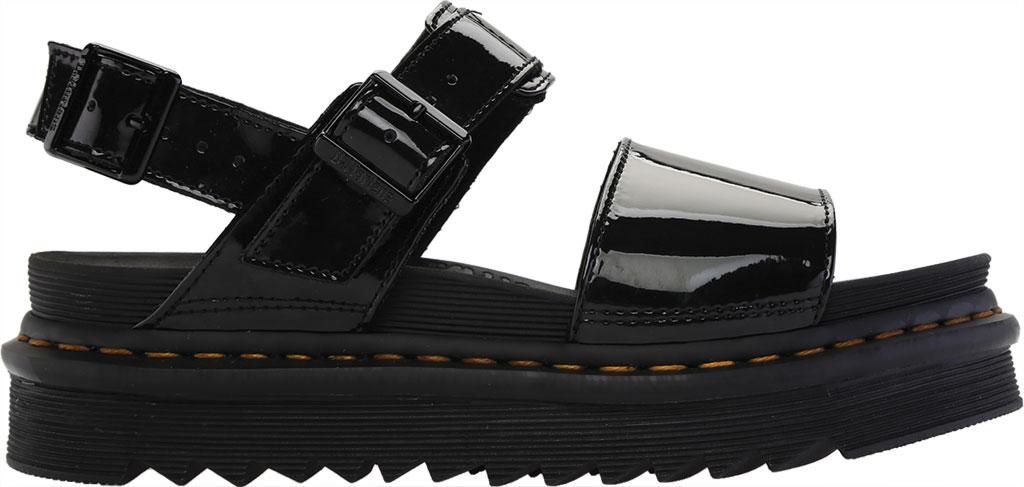Women's Dr. Martens Voss Platform Slingback Sandal, Black Patent Lamper Leather, large, image 2