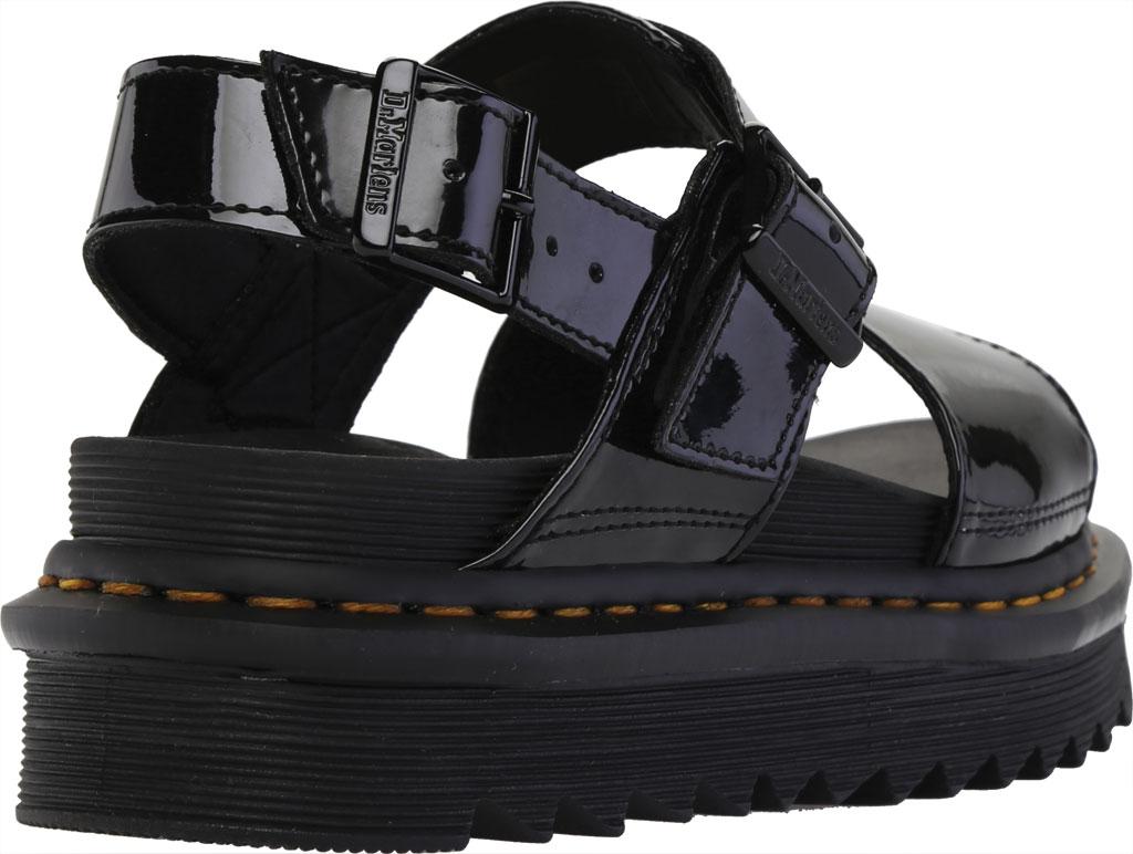Women's Dr. Martens Voss Platform Slingback Sandal, Black Patent Lamper Leather, large, image 4