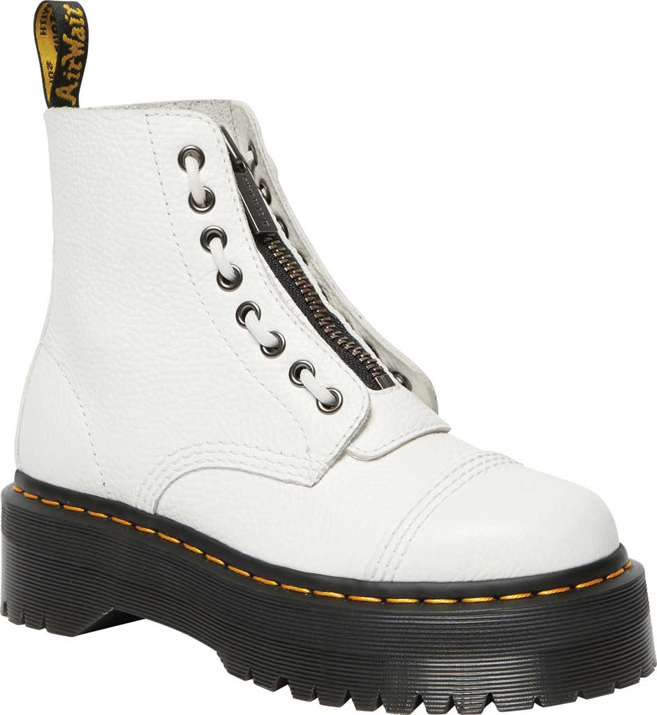 Women's Dr. Martens Sinclair Platform Boot, White Aunt Sally Leather, large, image 1