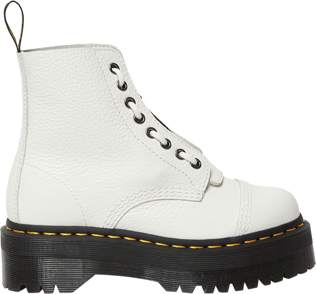 Women's Dr. Martens Sinclair Platform Boot, White Aunt Sally Leather, large, image 2