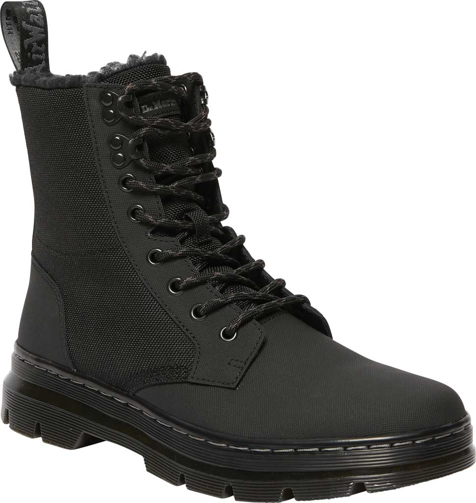 Dr. Martens Combs II Fur-Lined 8-Eye Boot, Thinsulate Black, large, image 1