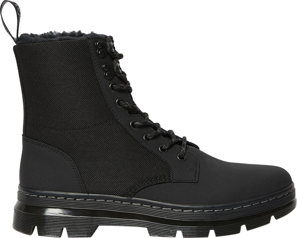 Dr. Martens Combs II Fur-Lined 8-Eye Boot, Thinsulate Black, large, image 2