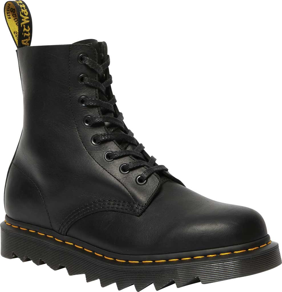 Men's Dr. Martens 1460 Pascal Ziggy 8-Eye Boot, Black Luxor Leather, large, image 1