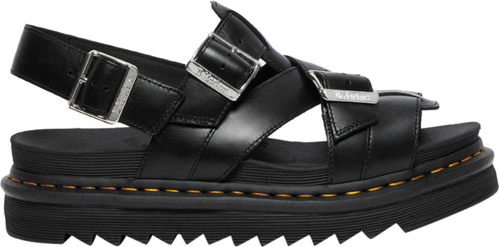 Dr. Martens Terry II Slingback Sandal, Black Brando Full Grain Waxy Leather, large, image 2