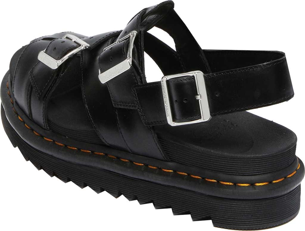 Dr. Martens Terry II Slingback Sandal, Black Brando Full Grain Waxy Leather, large, image 3
