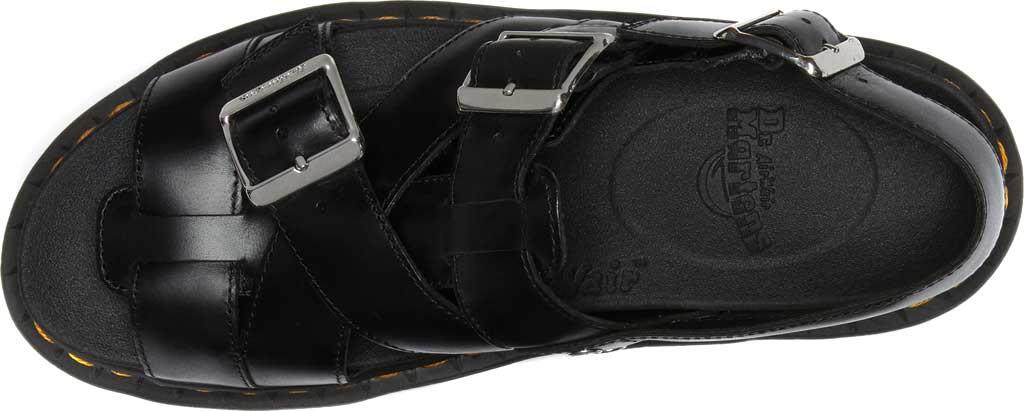 Dr. Martens Terry II Slingback Sandal, Black Brando Full Grain Waxy Leather, large, image 4