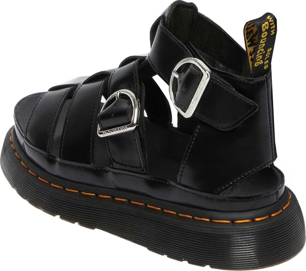 Women's Dr. Martens Mackaye Sandal, Black Buttero Full Grain Satin Gloss Leather, large, image 3