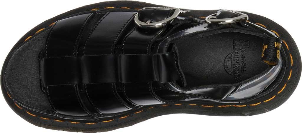 Women's Dr. Martens Mackaye Sandal, Black Buttero Full Grain Satin Gloss Leather, large, image 4