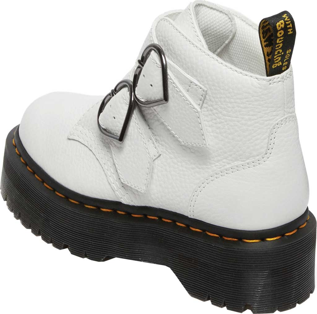 Women's Dr. Martens Devon Heart 2 Strap Boot, White Aunt Sally Tumbled Leather, large, image 3