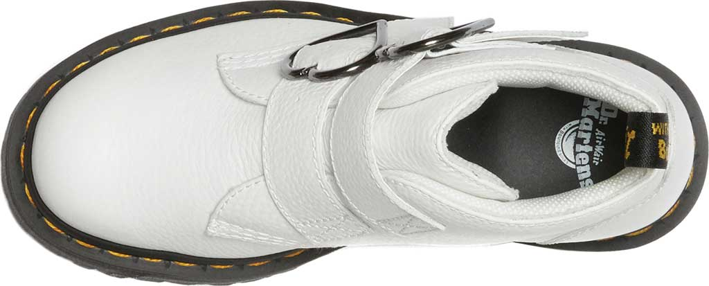 Women's Dr. Martens Devon Heart 2 Strap Boot, White Aunt Sally Tumbled Leather, large, image 4