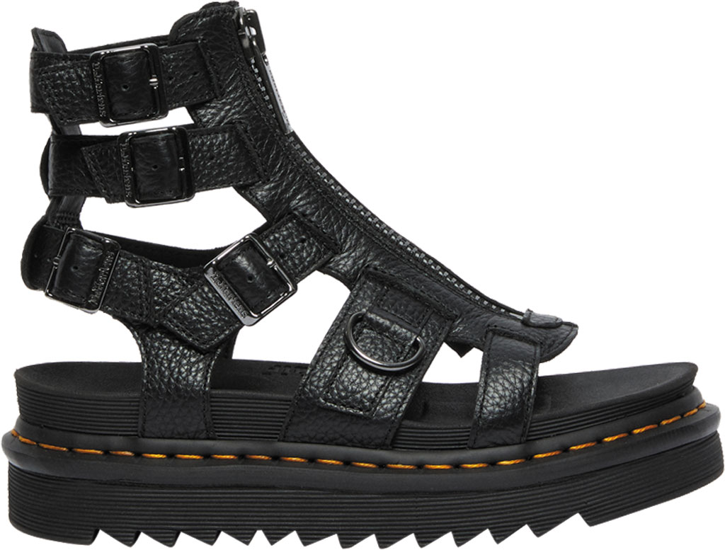 Women's Dr. Martens Olson Sandal, Black Aunt Sally Tumbled Leather, large, image 2