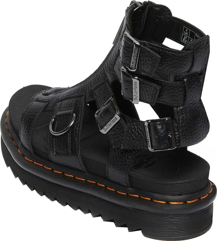 Women's Dr. Martens Olson Sandal, Black Aunt Sally Tumbled Leather, large, image 3