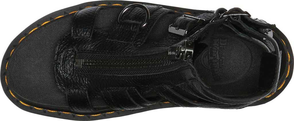 Women's Dr. Martens Olson Sandal, Black Aunt Sally Tumbled Leather, large, image 4