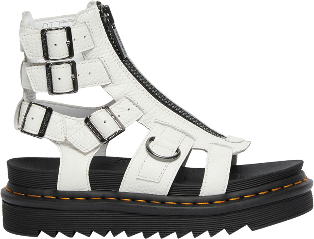 Women's Dr. Martens Olson Sandal, White Aunt Sally Tumbled Leather, large, image 2