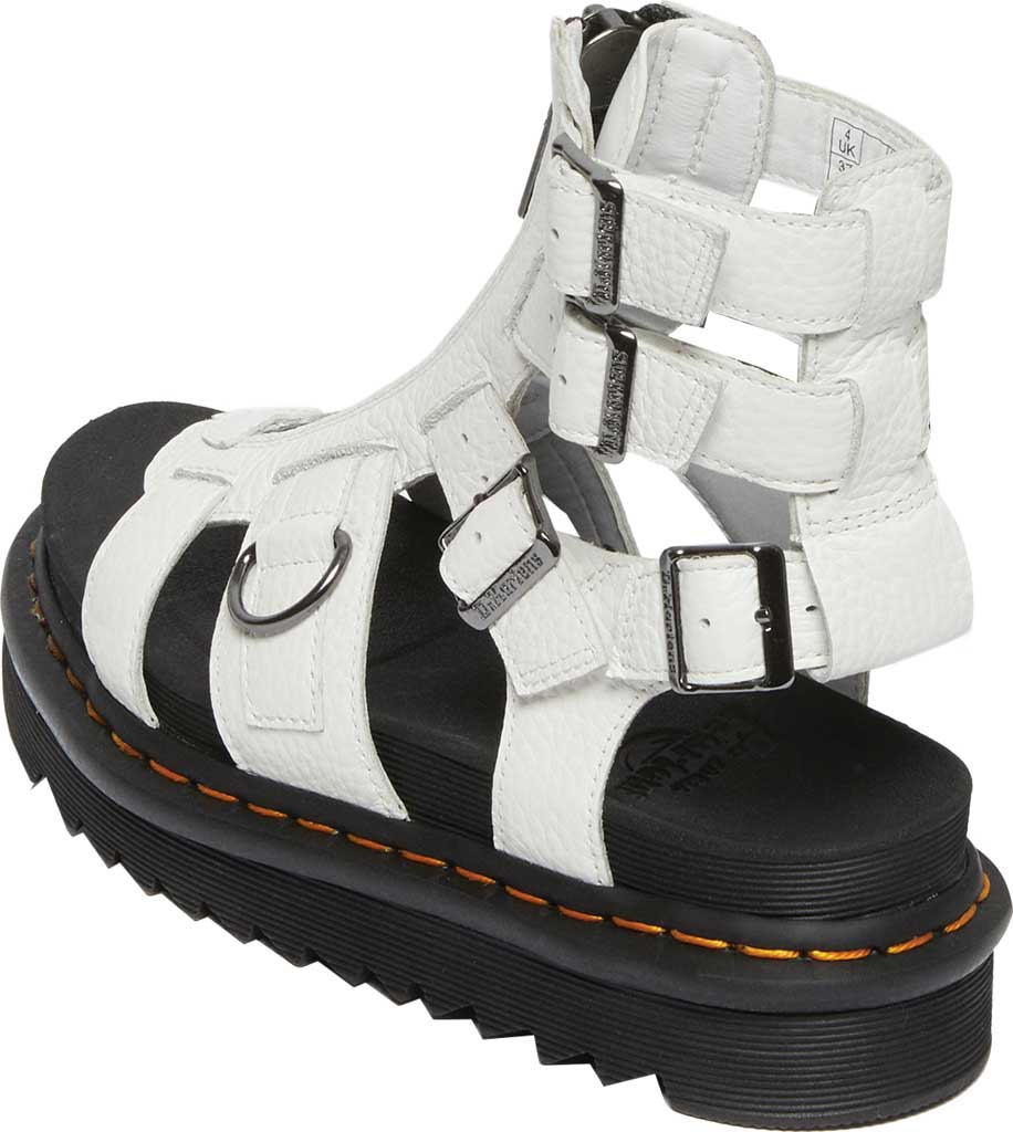 Women's Dr. Martens Olson Sandal, White Aunt Sally Tumbled Leather, large, image 3