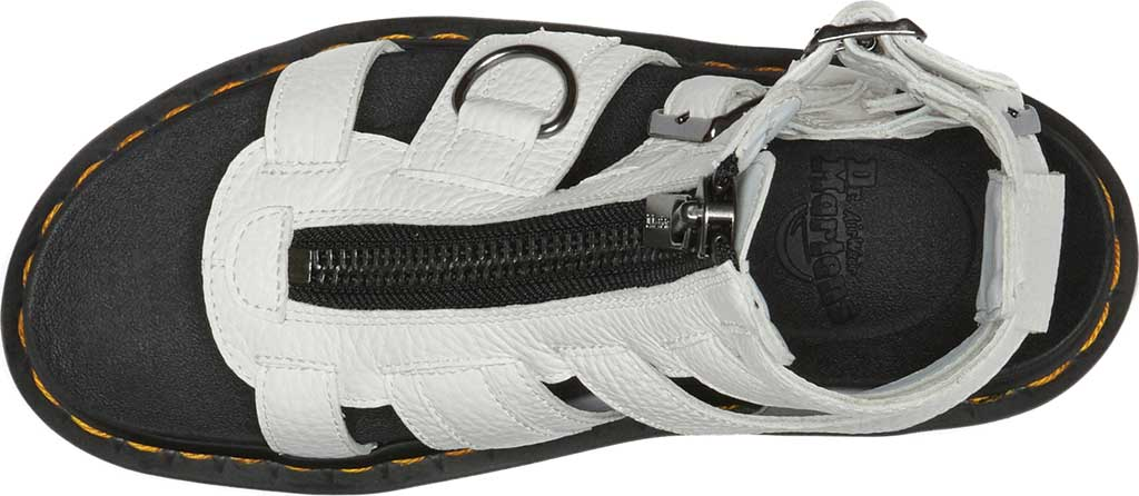 Women's Dr. Martens Olson Sandal, White Aunt Sally Tumbled Leather, large, image 4