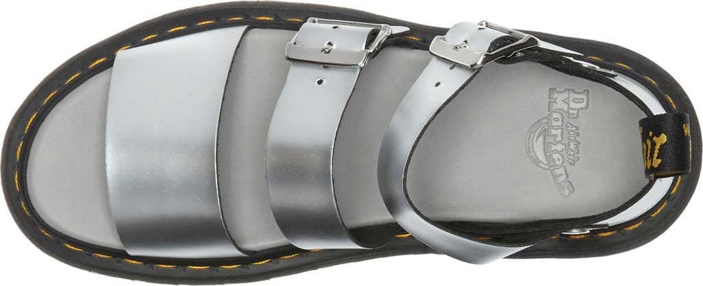 Dr. Martens Gryphon Metallic Calf Strap Sandal, Silver/Black Metallic Brush Calf, large, image 4