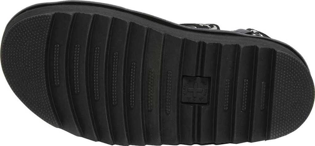 Women's Dr. Martens Kimber Sandal, Black/Black/Light Grey Hydro Leather/Logo Webbing, large, image 5