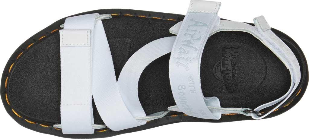 Women's Dr. Martens Kimber Sandal, White/White/Light Grey Hydro Leather/Logo Webbing, large, image 4