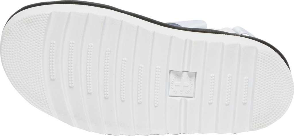 Women's Dr. Martens Kimber Sandal, White/White/Light Grey Hydro Leather/Logo Webbing, large, image 5