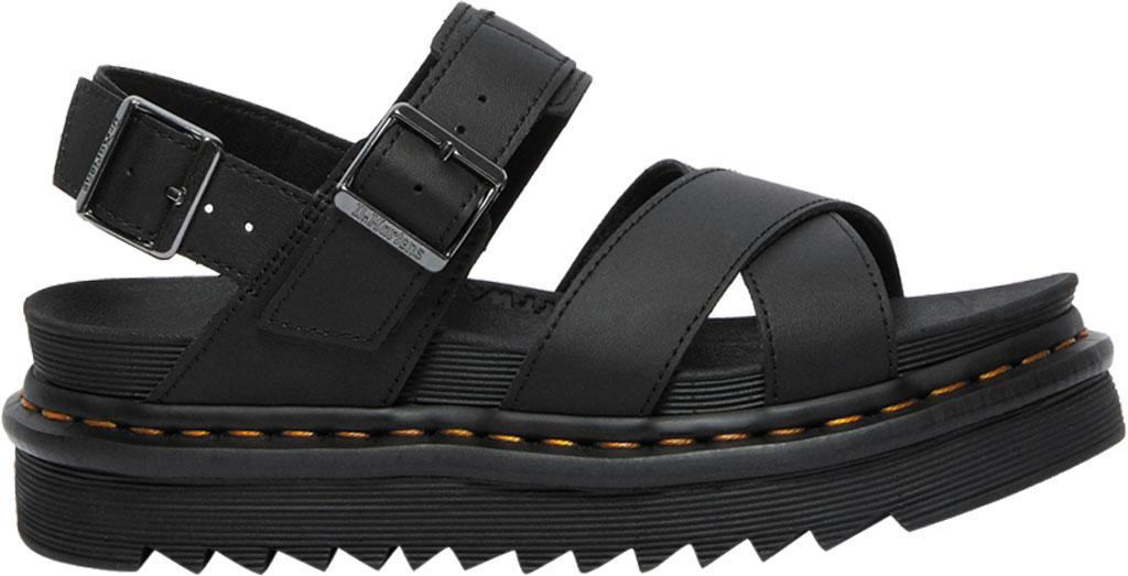 Women's Dr. Martens Voss II Sandal, Black Hydro Leather, large, image 2