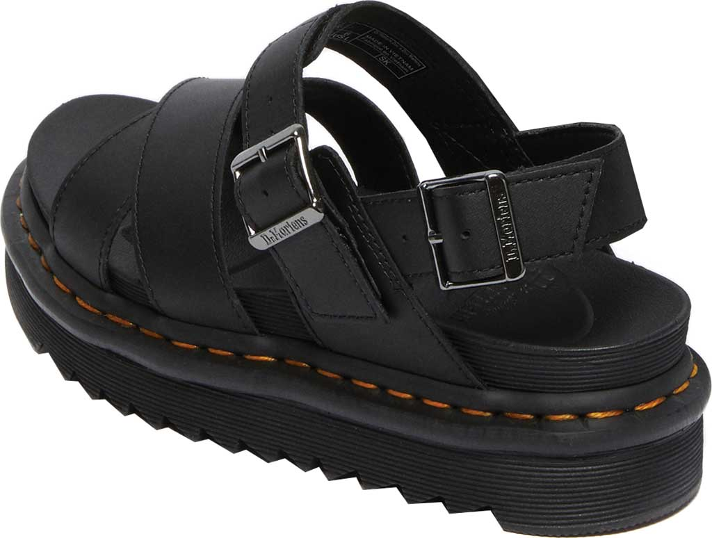 Women's Dr. Martens Voss II Sandal, Black Hydro Leather, large, image 3