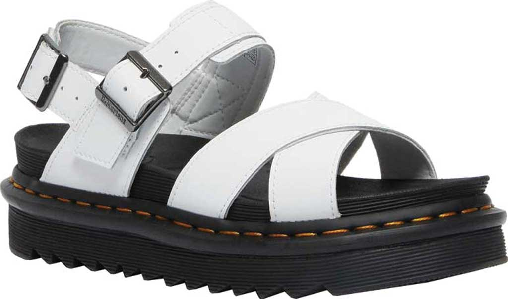 Women's Dr. Martens Voss II Sandal, White Hydro Leather, large, image 1