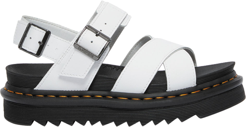Women's Dr. Martens Voss II Sandal, White Hydro Leather, large, image 2