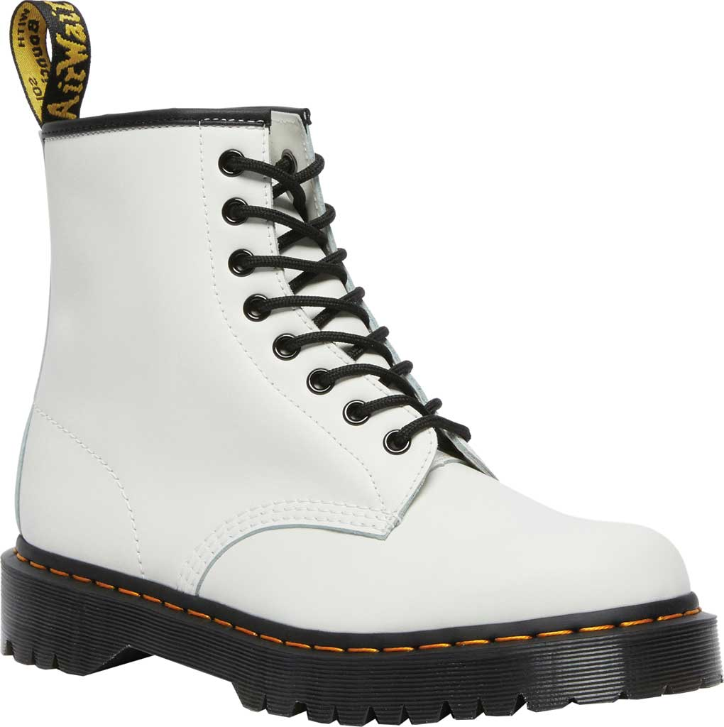 Dr. Martens 1460 Bex 8 Eye Boot, White Smooth Leather, large, image 1