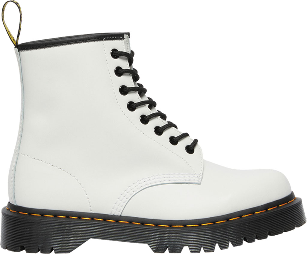Dr. Martens 1460 Bex 8 Eye Boot, White Smooth Leather, large, image 2