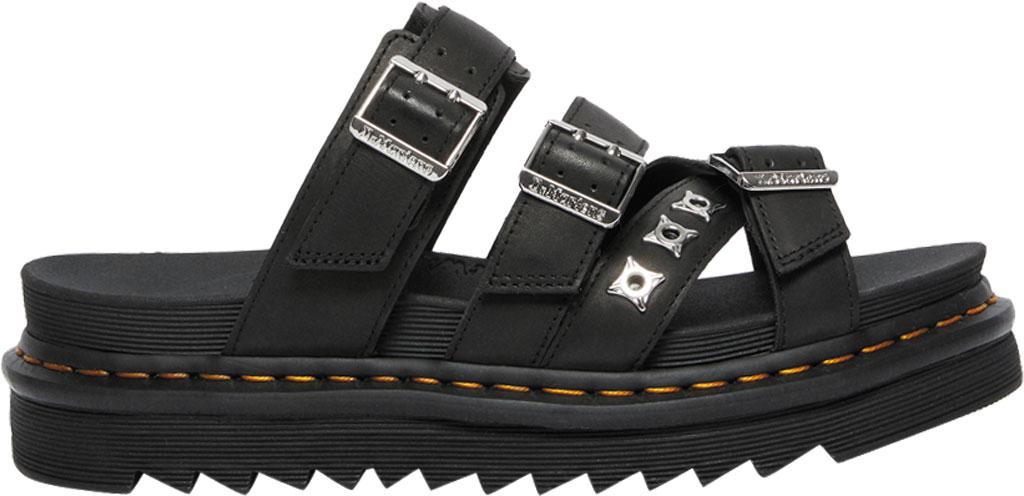 Dr. Martens Ryker II Hardware Slide Sandal, Black Temperley Antique Full Grain Leather, large, image 2