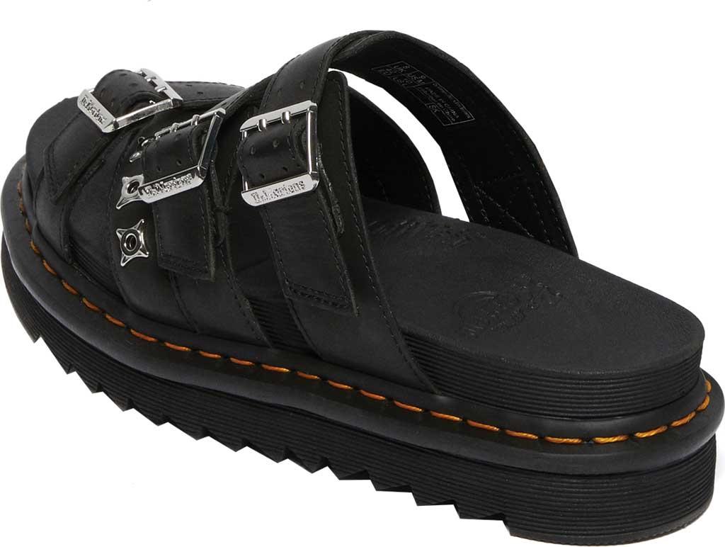 Dr. Martens Ryker II Hardware Slide Sandal, Black Temperley Antique Full Grain Leather, large, image 3
