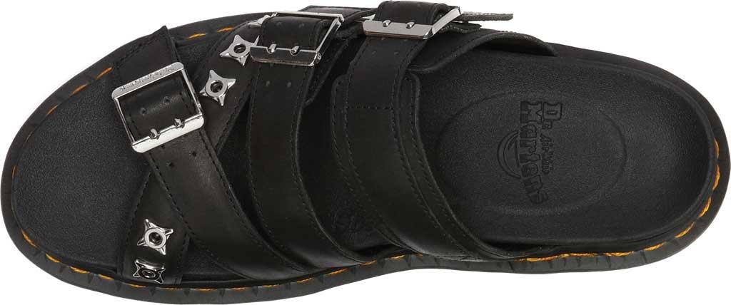 Dr. Martens Ryker II Hardware Slide Sandal, Black Temperley Antique Full Grain Leather, large, image 4